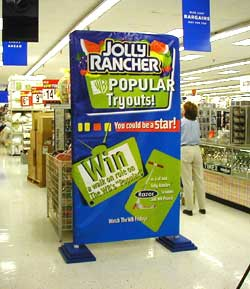Jolly Rancher stand up 4 color sign