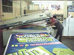 Gary printing Jolly Rancher 4 color signs
